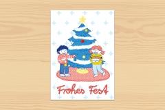 Postkarte Frohes Fest Frieda und Markus